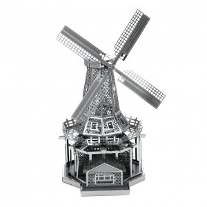 Metal Earth Wiatrak Windmill - Metalowy Model Do Składania , bez klejenia Na Prezent