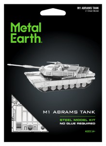 Metal Earth Czołg Abrams M1 model do składania metalowy.