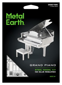 Metal Earth Fortepian Grand Piano model do składania metalowy.