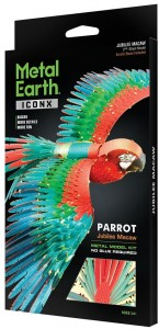 Metal Earth ICONX Papuga Ara Parrot Model do składania