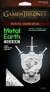 Metal Earth Gra o Tron Herb Starków House Stark Sigil GOT Game of Thrones