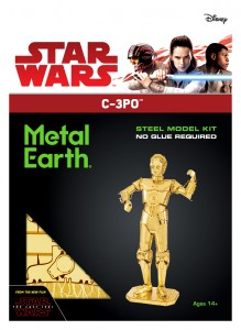 Metal Earth Star Wars C-3PO C3PO model do składania metalowy.