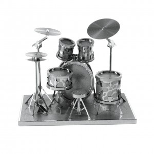 Metal Earth Perkusja Drum Set - Metalowy Model Do Składania , bez klejenia Na Prezent