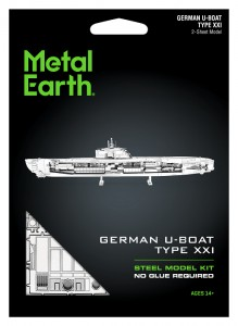 Metal Earth German U-boot Type XXI Metalowy Model Do Składania