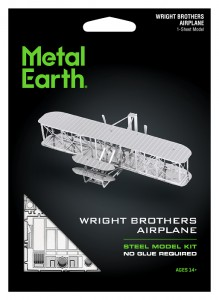 Metal Earth Wright Brothers Airplane, Samolot Braci Wright model do składania metalowy.