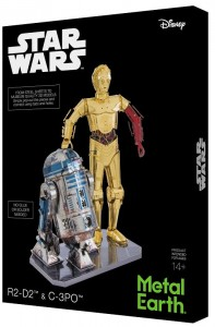 Metal Earth Star Wars R2-D2 & C-3PO Box Set Model do składania metalowy.
