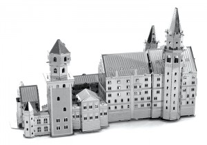 Metal Earth Zamek Neuschwanstein Castle model do składania metalowy.